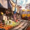 NEVJEROVATNO: Pogledajte tržnicu koja se bukvalno nalazi na željezničkoj pruzi (VIDEO)